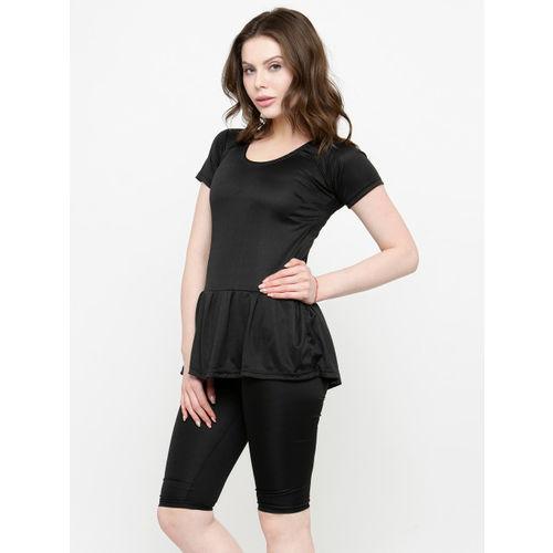 N-Gal Women Black Solid Swimsuit