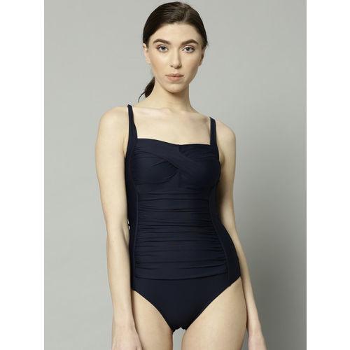 5e3cbc02b0339 ... Marks & Spencer Women Navy Blue Solid Swim Bodysuit T525859 ...