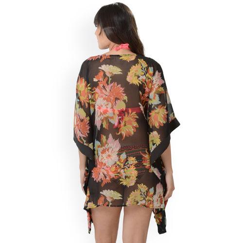e170d549fbffc Buy Da Intimo Women Black Printed Kaftan Cover-Up Swimwear online ...