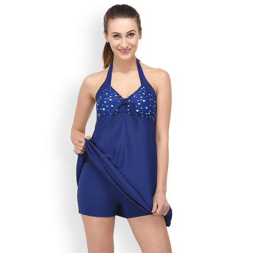 VOXATI Women Blue Printed Swimdress