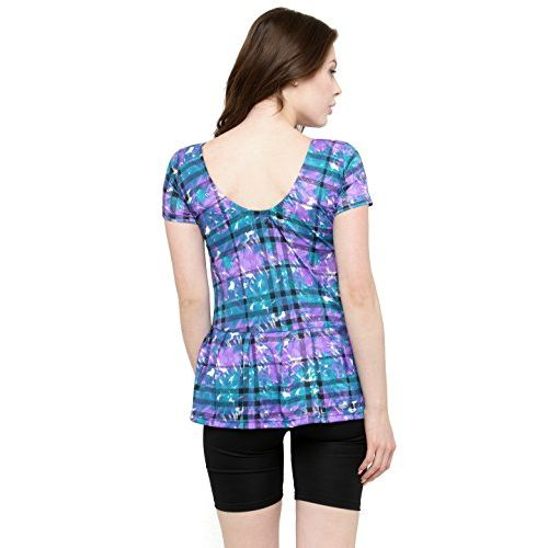 ce8d7919d25c9 ... N-Gal Women Frock Style Blue Print Half Sleeves   Shorts One Piece Swimwear  Swimsuit ...