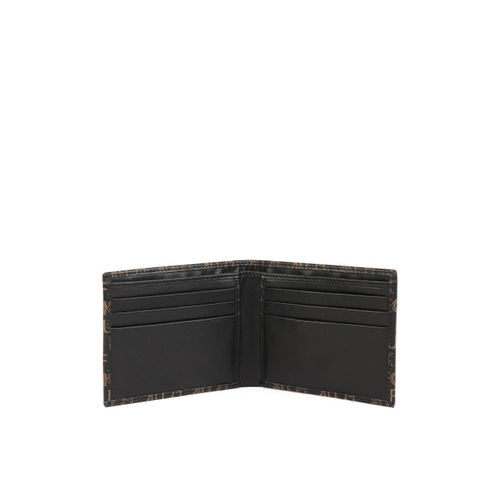 French Connection Men Black & Brown Printed Two Fold Wallet