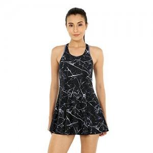 6627ea7f34 Speedo Female Swimwear All Over Print Racer-Back Swimdress (with Boyleg)