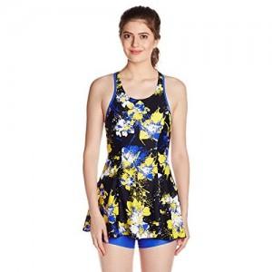 84c6f108a9 Speedo Female Swimwear All Over Print Racerback Swimdress with Boyleg