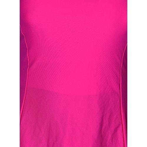 Carrel Women Nylon Fabric Comfort Fit U Neck Half Sleeve with Attach Knee Length Capri Plain Swimsuit