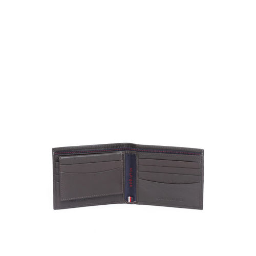 Tommy Hilfiger Men Coffee Brown Solid Two Fold Wallet