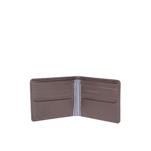 United Colors of Benetton Men Coffee Brown Textured Leather Two Fold Wallet