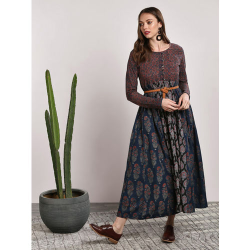 Sangria Women Multicoloured Printed Maxi Dress