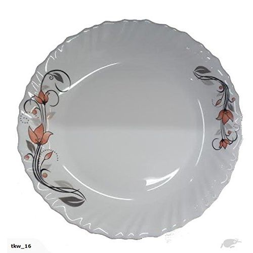 LaOpala La Opala Scarlet Blooms Dinner Set, 35-Pieces, Multicolour