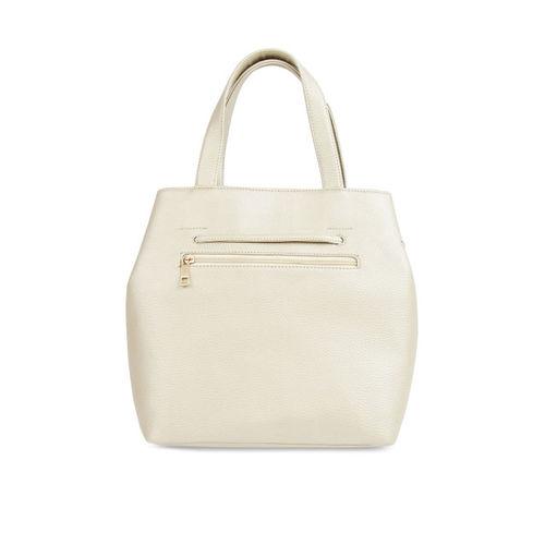 Toteteca Off-White Solid Handheld Bag