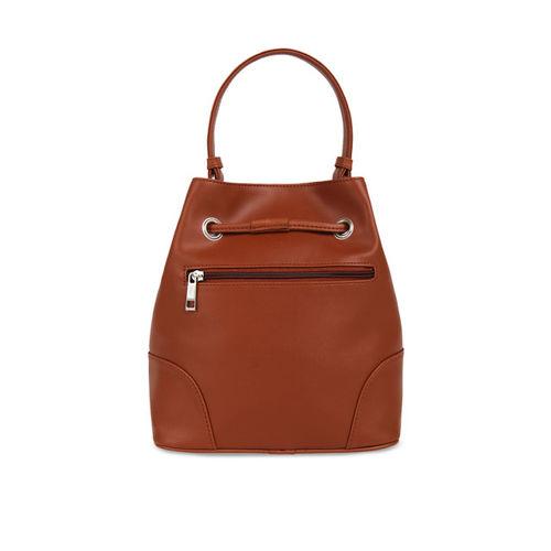 Toteteca Tan Brown Solid Handheld Bag