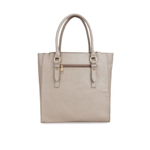 Toteteca Beige Solid Shoulder Bag