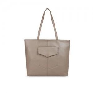 Toteteca Beige Textured Shoulder Bag