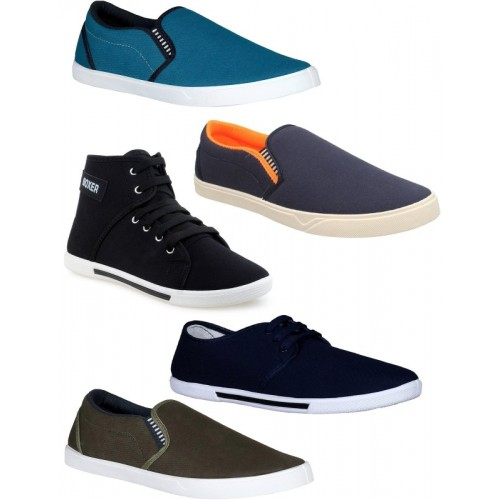 Chevit Combo Pack of 5 Multicolor Casual Shoes Sneakers For Men