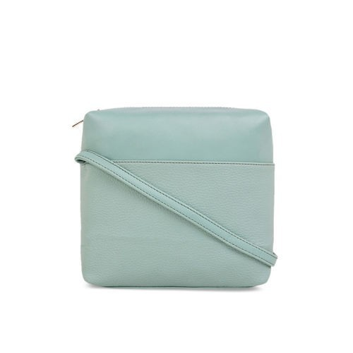 Toteteca Sea Green Polyurethane Solid Sling Bag