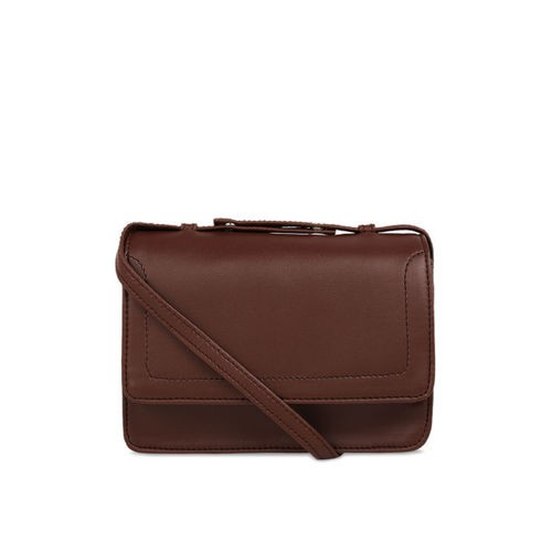 Toteteca Brown Solid Sling Bag