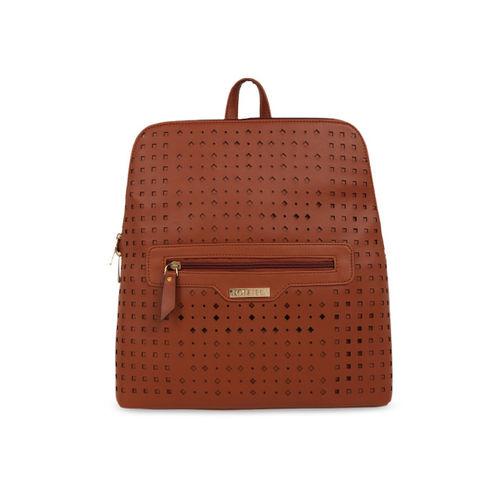 Toteteca Women Tan Solid Backpack