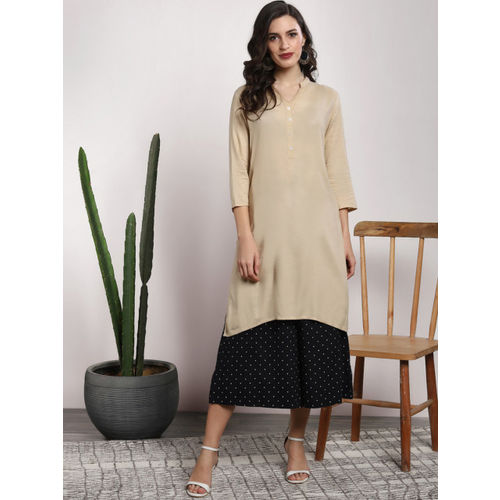 Sangria Women Black Regular Fit Printed Culottes