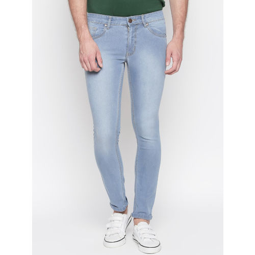 High Star Men Blue Slim Fit Mid-Rise Clean Look Stretchable Jeans