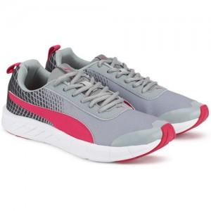 Puma Supernal Wns NU 2 IDP Grey Mesh Lace Up Running Shoes