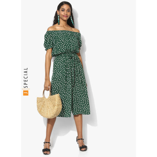 DOROTHY PERKINS Green Printed Culotte Jumpsuit