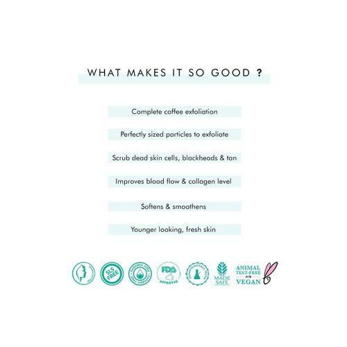 MCaffeine Naked & Raw Coffee Face Scrub, 100 g