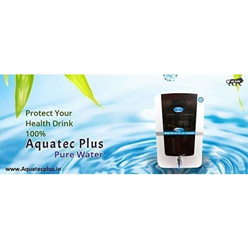 Aquatec plus Advance Plus 12L RO+UV+UF+TDS Water Purifier (White and Black)
