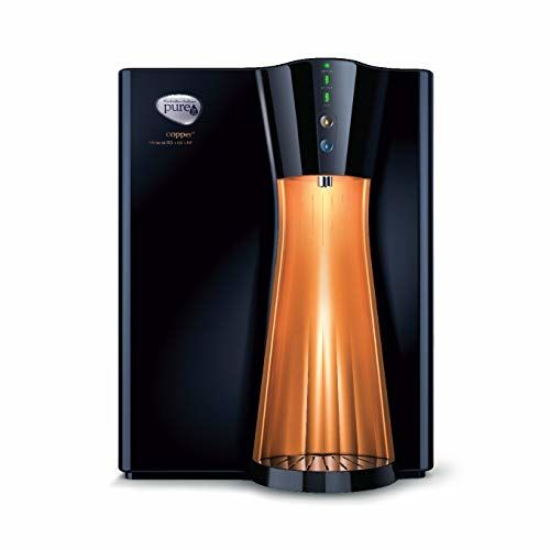 HUL Pureit Copper+ Mineral RO+UV+MF 10 Litre Water Purifier (Black/Copper)