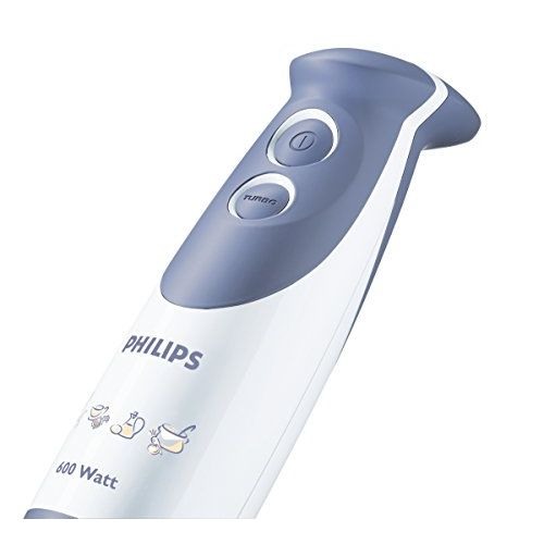 Philips Daily Collection HR1363 600-Watt Hand Blender with Chopper and Beaker (colour may vary)
