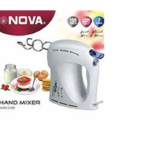 Nova Pro NHM-2109 Hand Mixer (White & Blue)