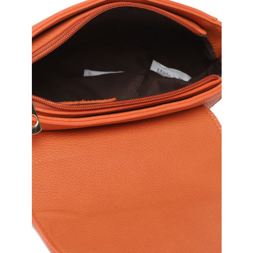 DressBerry Orange Solid Sling Bag
