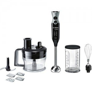 Bosch MSM67190 750-Watt Hand Blender with Whisker and Food Processor Attachments (Black)