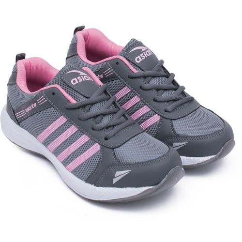 Asian Fashion-13 Grey Pink Walking Shoes,Gym Shoes,Casual Shoes,Training Shoes,Sports Shoes, Running Shoes For Women(Grey, Pink)