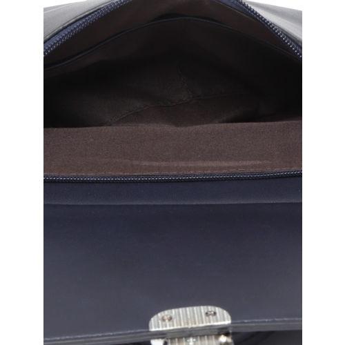 DressBerry Navy Blue Solid Satchel Bag