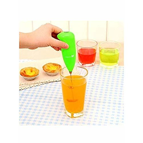 Generic Hongxin Mini Electric Battery Operated Hand Blender Coffee Milk Juice Egg Beater frother Whisker (Multicolour)