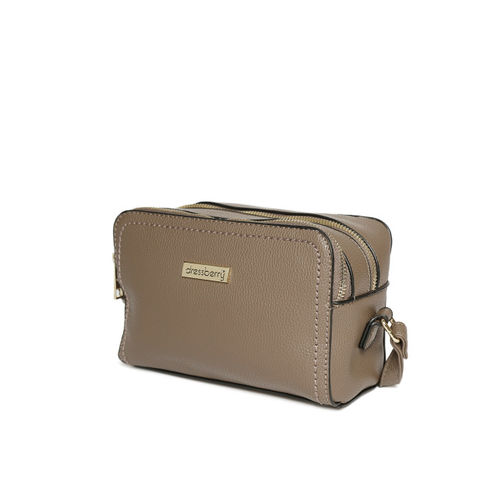 DressBerry Taupe Solid Sling Bag