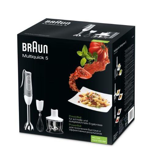 Braun Multiquick MQ535 600-Watt Hand Blender (White and Grey)