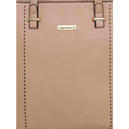 DressBerry Beige Solid Shoulder Bag
