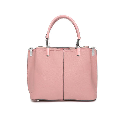 DressBerry Dusty Pink Solid Handheld Bag