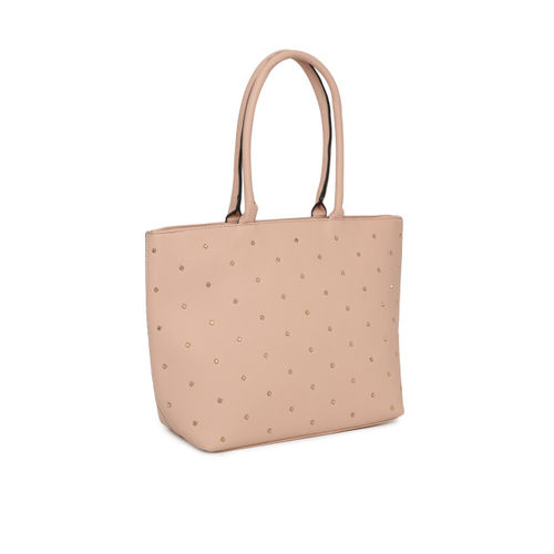 DressBerry Beige Embellished Shoulder Bag