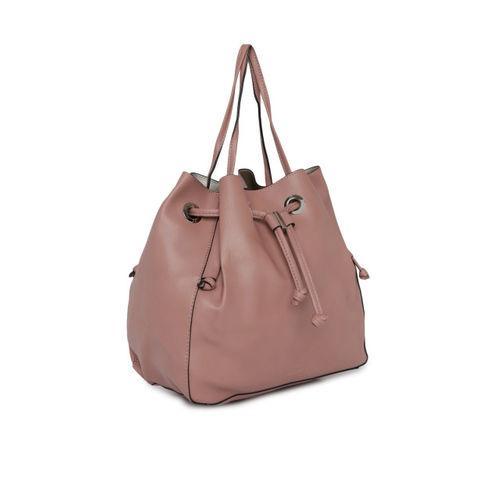 DressBerry Pink Solid Shoulder Bag