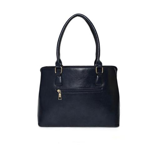 DressBerry Navy Blue Solid Shoulder Bag