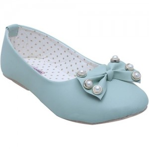 Dchica Girls Slip on Ballerinas(Blue)