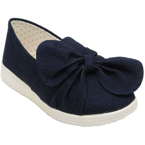 Dchica Girls Slip on Loafers(Blue)