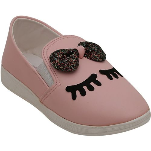 Dchica Pink Girls Slip on Loafers)