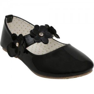 Dchica Girls Slip on Ballerinas(Black)
