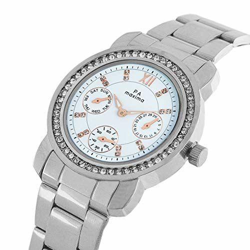 Maxima Analog White Dial Women's Watch-O-52930CMLI