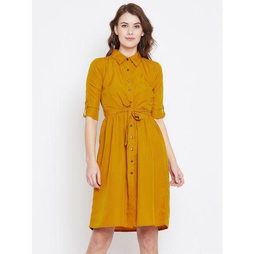 The Dry State Women's Shirt Yellow Dress