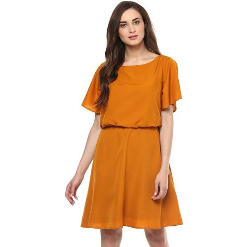 543b3317bc Buy Zima Leto Women s Fit and Flare Yellow Dress online