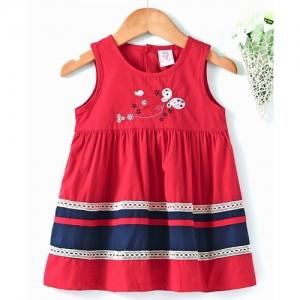 c5c3172b9 Buy Ahhaaaa Red Cotton Pari Dress/Chrismas Gown online | Looksgud.in